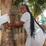The Water Project: Lungi, New London, #10 Dankama Street -  Participant Demonstrating Handwashing