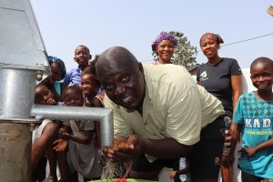 The Water Project:  Community Members Drinking Water