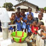 The Water Project: Lungi, New London, #10 Dankama Street -  Kids Celebrating Clean Water Flowing