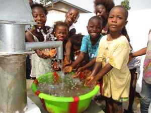 The Water Project:  Kids Happy Splashing Clean Water