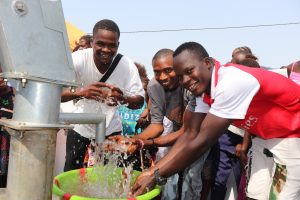 The Water Project:  Young Men Splashing Clean And Safe Drinking Water