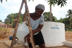 The Water Project:  Community Members Demostarting Handwashing
