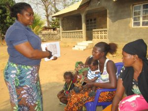 The Water Project:  Hygiene Facilitator Teaching About Toilet And It Importance