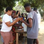 The Water Project: Lungi, Mahera, #5 MacAuley Street -  Participants Constructing Tippy Tap