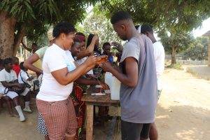 The Water Project:  Participants Constructing Tippy Tap