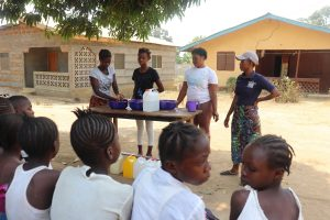 The Water Project:  Participants Demostrating One Of The Handwashing Method