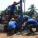 The Water Project: Lungi, Mahera, #5 MacAuley Street -  Setting Up Manchine For Drilling