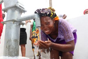 The Water Project:  Woman Happy Drinking Clean And Safe Drinking Water