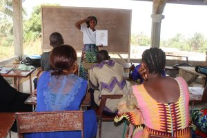 The Water Project:  Hygiene Facilitator Teaching About Bathing