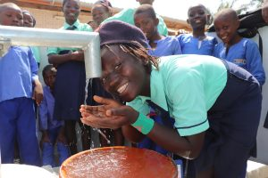 The Water Project:  Student Drinking Water