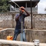 The Water Project: Lungi, Tardi, Khodeza Community School -  Yield Test