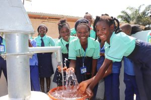 The Water Project:  Students Splashing Water