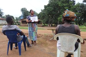 The Water Project:  Hygiene Facilitator Teaches Toilet Use And Importance