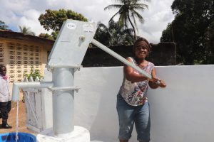 The Water Project:  Woman Collecting Clean And Safe Drinking Water