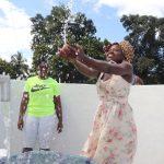 The Water Project: Lungi, Kambia, #6 Bangura St. -  Celebrating And Splashing