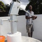 The Water Project: Lungi, Kambia, #6 Bangura St. -  Collecting Water