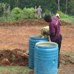The Water Project: Friends Kisasi Secondary School -  Collecting Water For Construction