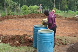 The Water Project:  Collecting Water For Construction