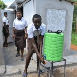 The Water Project: Friends Kisasi Secondary School -  Handwashing At The Latrines