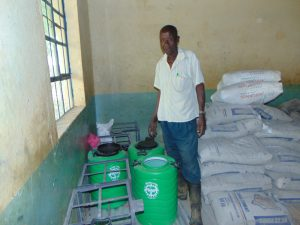 The Water Project:  School Security Guard Ernest Ambani Inspects The Hardware Materials