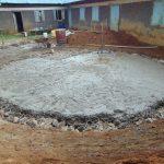 The Water Project: Ivakale Primary School & Community - Rain Tank 2 -  Tank Foundation Slab