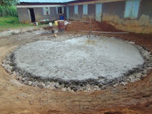 The Water Project:  Tank Foundation Slab