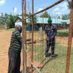 The Water Project: Ivakale Primary School & Community - Rain Tank 2 -  Reinforcing The Wire Mesh With Rebar