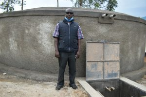 The Water Project:  Principal Viincent Okoth At The Rain Tank