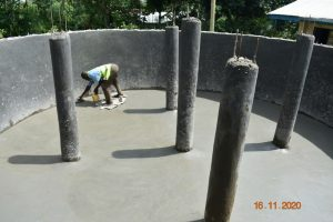 The Water Project:  Plastering The Tank Floor