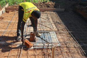 The Water Project:  Setting Foundation For Latrine