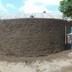 The Water Project: Ivakale Primary School & Community - Rain Tank 2 -  Exterior Cement Work