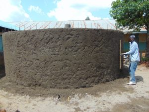 The Water Project:  Exterior Cement Work