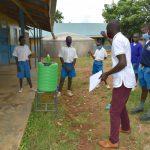 The Water Project: Ivakale Primary School & Community - Rain Tank 2 -  Handwashing Training