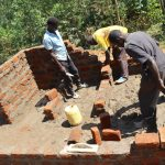 The Water Project: Kinu Friends Secondary School -  Brick Work On The Toilets