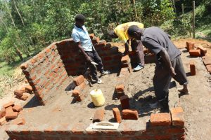 The Water Project:  Brick Work On The Toilets