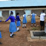 The Water Project: Ivakale Primary School & Community - Rain Tank 2 -  Social Distancing At The Training