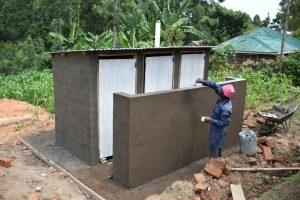 The Water Project:  Latrine Plaster