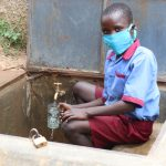 The Water Project: Mukoko Baptist Primary School -  Fetching A Drink