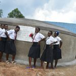 The Water Project: Kinu Friends Secondary School -  Girls Celebrate The Tank