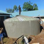The Water Project: Ivakale Primary School & Community - Rain Tank 2 -  Dome Work