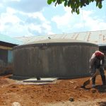 The Water Project: Ivakale Primary School & Community - Rain Tank 2 -  Landscaping Around The Tank
