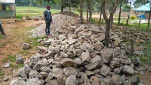The Water Project:  Field Officer Erick Wagacka Inspecting Locally Availed Materials