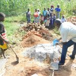 The Water Project: Maraba Community, Nambwaya Spring -  Preparing Construction Materials