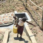 The Water Project: Maraba Community, Nambwaya Spring -  Easy Exit On Stairs