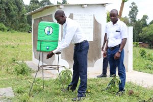 The Water Project:  Using The Handwashing Station