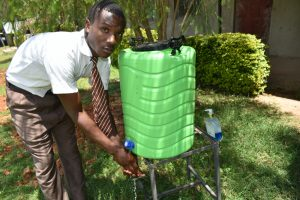The Water Project:  Student Washing Hands