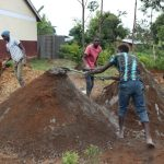 The Water Project: Friends Kisasi Secondary School -  Mixing Cement