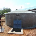 The Water Project: Ivakale Primary School & Community - Rain Tank 2 -  Curing A Complete Tank