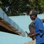 The Water Project: Ivakale Primary School & Community - Rain Tank 2 -  Artisan Fits The Guttering
