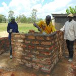 The Water Project: Ivakale Primary School & Community - Rain Tank 2 -  Vip Latrine Brickwork Ongoing